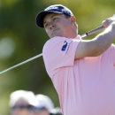 Jason Dufner hits off the sixth tee during the final round of the CareerBuilder Challenge golf tournament on the TPC Stadium course at PGA West in La Quinta, Calif., Sunday, Jan. 24, 2016. (AP Photo/Alex Gallardo)