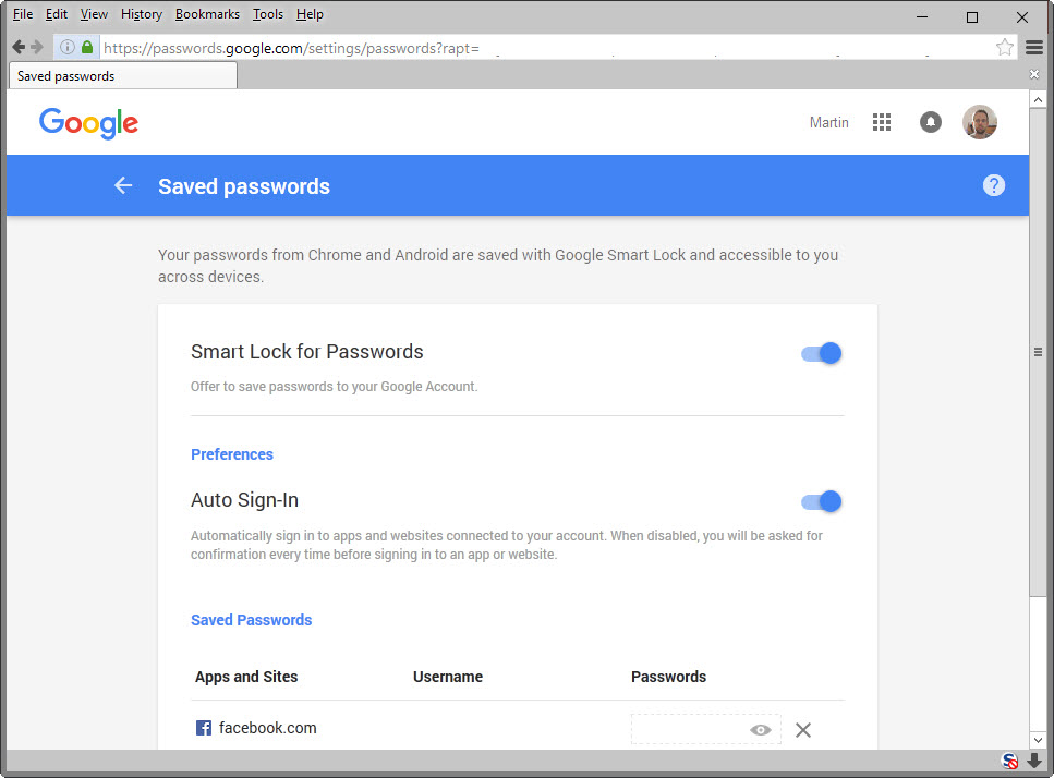... to delete all locally saved passwords manage chrome passwords remotely