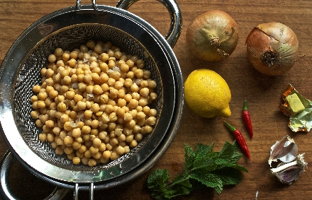 Jenny Chandler's chickpea soup ingredients
