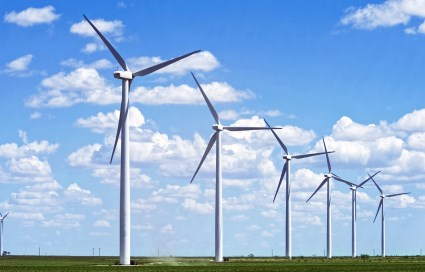 Wind turbines, Texas , USA