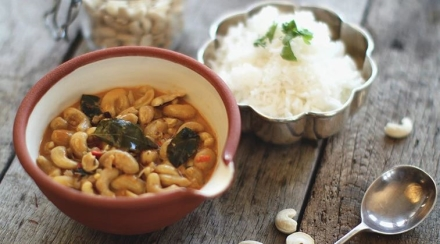 Cashew Nut Curry in a bowl