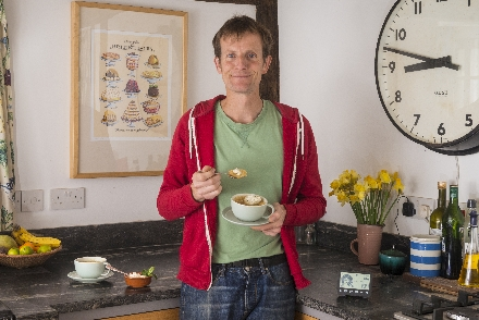 Ian Cummings, Great British Bake Off finalist, enjoys his energy saving Mojito cake