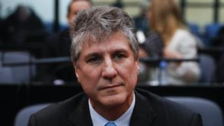 Argentina's former vice president Amado Boudou during his trial in Buenos Aires on 0 August 2018