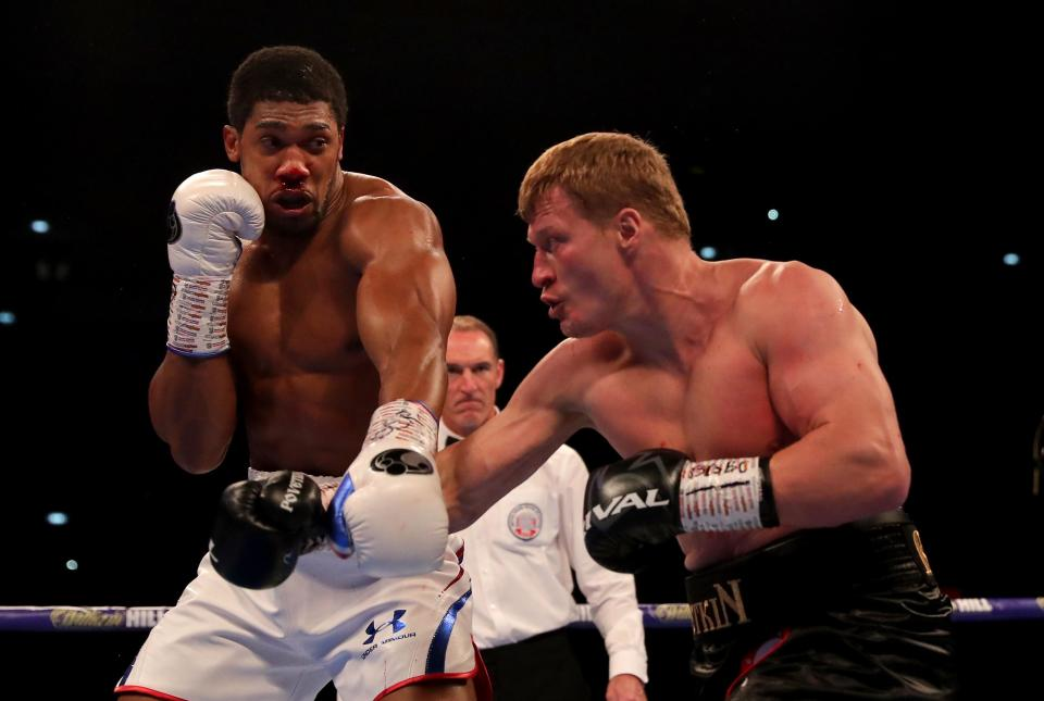 Anthony Joshua was hurt early on by Alexander Povetkin