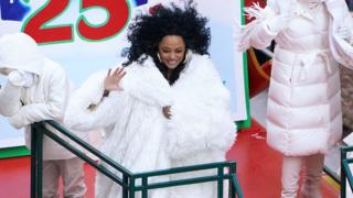Diana Ross rides a float down 6th Avenue during the 92nd Macy's Thanksgiving Day Parade in New York City, New York, U.S., November 22, 2018