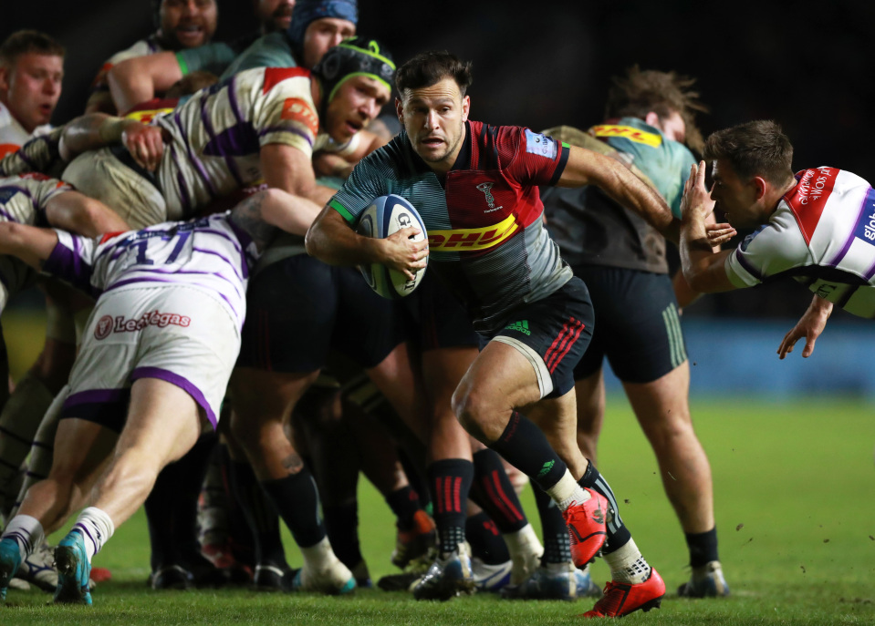 Harlequins scrum half Danny Care makes a break at the Stoop