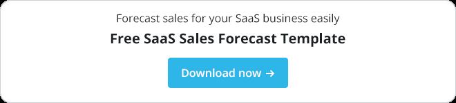 Free saas sales forecast template