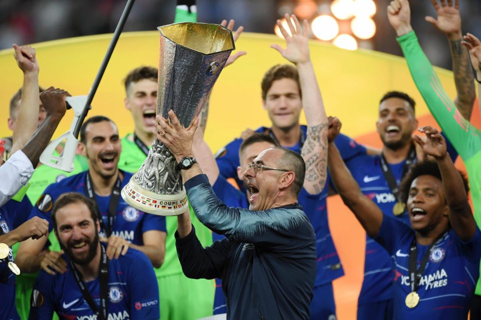 Sarri delivered the Europa League on Wednesday night