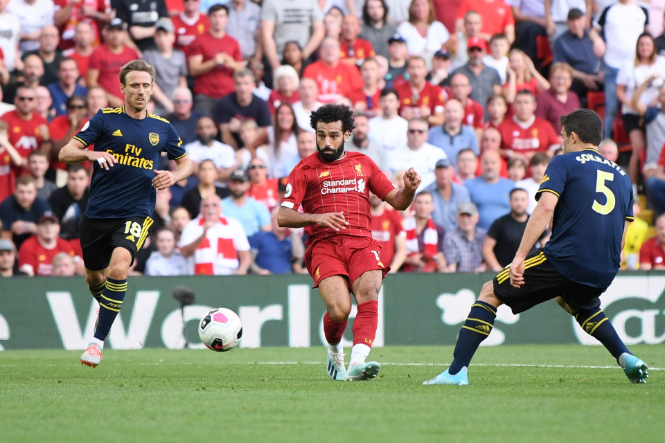 Mohamed Salah was in red-hot form as Liverpool eased past Arsenal last weekend