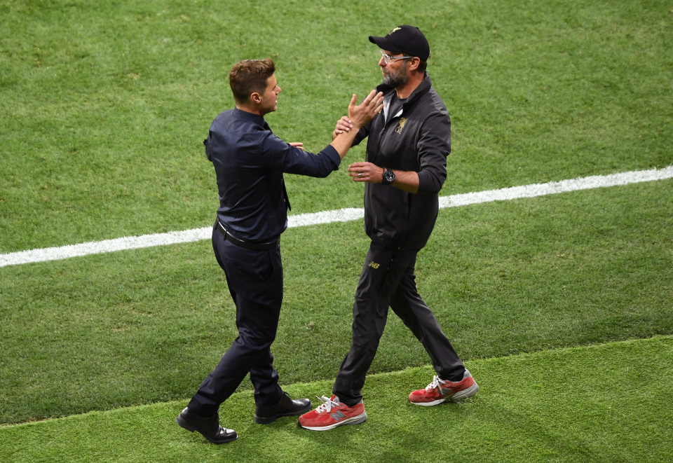 Klopp always wears a tracksuit on the touchline, even during his side's triumphant Champions League final win over Tottenham last season
