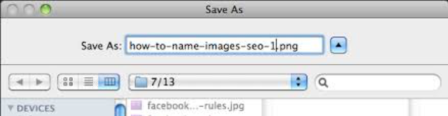 naming your images visual site search