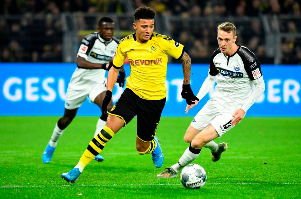 Jadon Sancho was key to Borussia Dortmund's revival against Paderborn