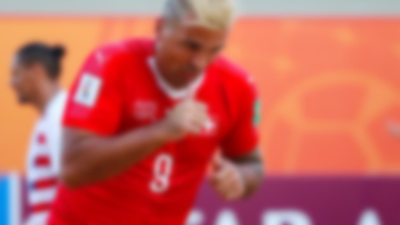 Dejan Stankovic of Switzerland celebrates the first goal