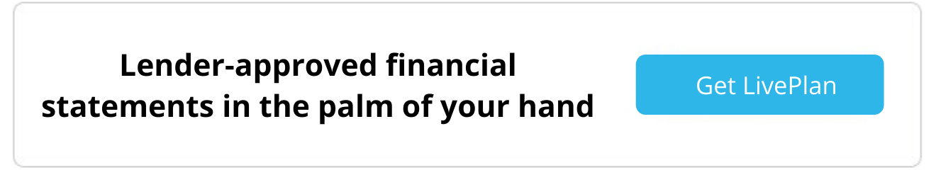 lender approved financials