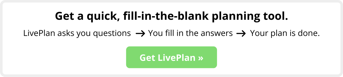 fill-in-the-blank LivePlan
