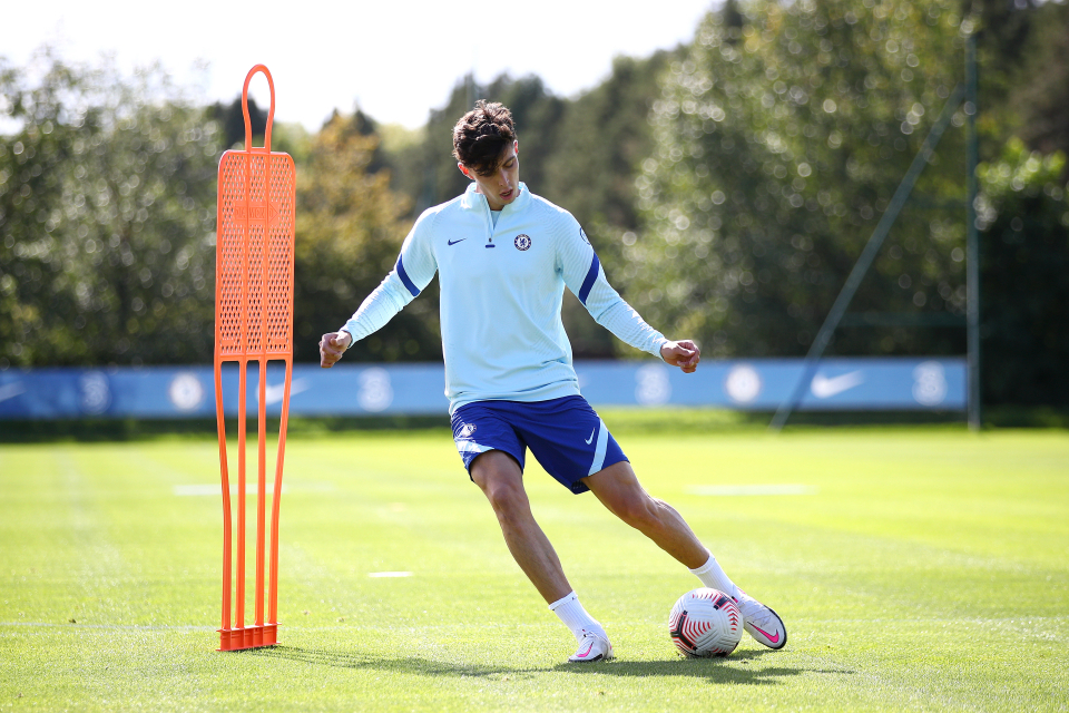 Havertz has had glowing reports from his early training sessions with Chelsea and could make his full debut against Brighton
