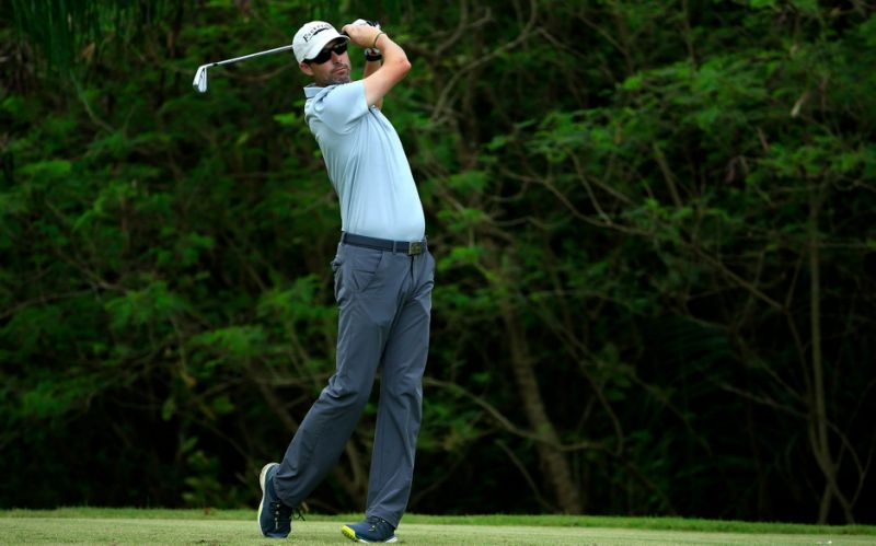 Jay McLuen plays his tee shot on the 11th hole during the second round of the Puerto Rico Ope - Getty Images
