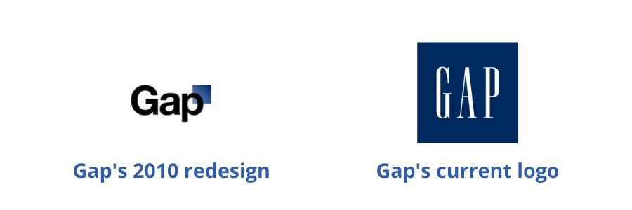 Here's the different Gap logos and why they switched back