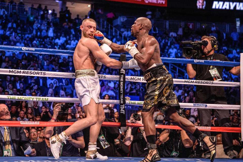 Mayweather stopped McGregor in the tenth round when they met in 2017